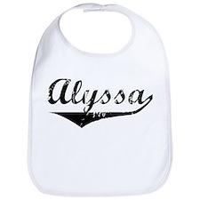 Alyssa Vintage (Black) Bib
