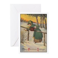 Merry Christmas Greetings Greeting Cards (Pk of 20