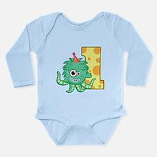 1st Birthday Monster Long Sleeve Infant Bodysuit