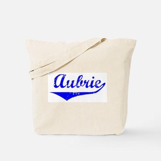 Aubrie Vintage (Blue) Tote Bag