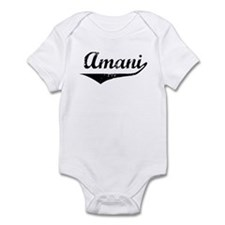 Amani Vintage (Black) Infant Bodysuit