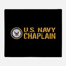 U.S. Navy: Chaplain (Black & Gold) Throw Blanket
