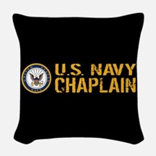 U.S. Navy: Chaplain (Black & G Woven Throw Pillow