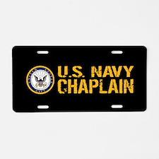 U.S. Navy: Chaplain (Black Aluminum License Plate