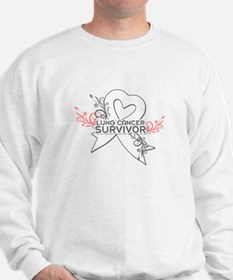 Unique Lung cancer survivor Sweatshirt