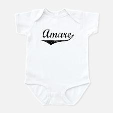 Amare Vintage (Black) Infant Bodysuit