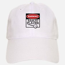 Warning Banjo Player Baseball Baseball Cap