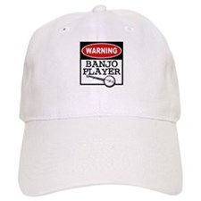Warning Banjo Player Baseball Cap