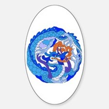 Dragon Knot 10 Oval Decal