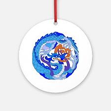 Dragon Knot 10 Ornament (Round)