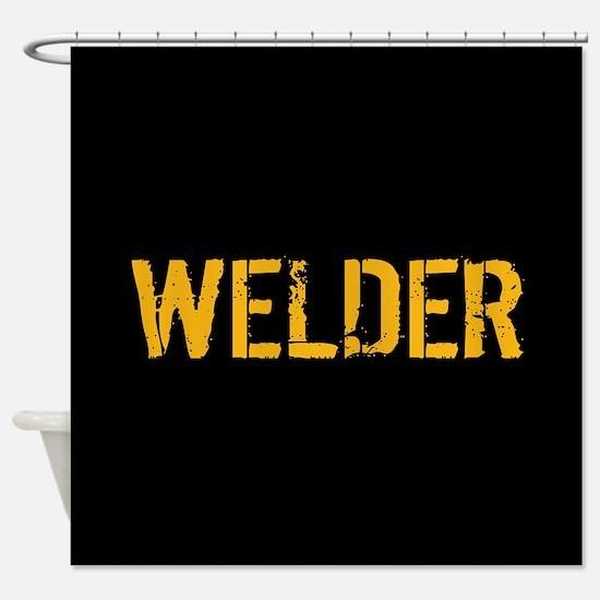 Welding: Stencil Welder (Black & Go Shower Curtain