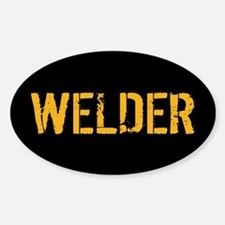 Welding: Stencil Welder (Black & Go Sticker (Oval)