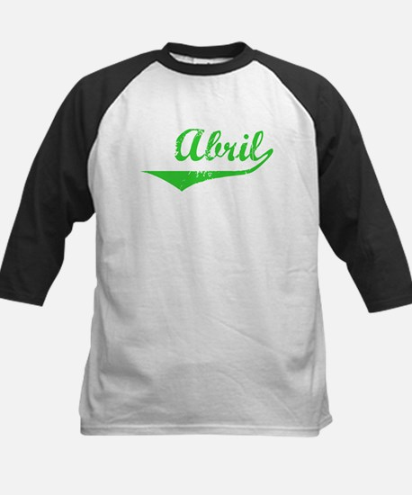 Abril Vintage (Green) Kids Baseball Jersey