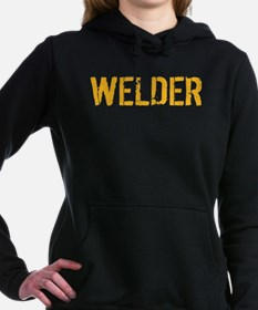 Welding: Stencil Welder Women's Hooded Sweatshirt