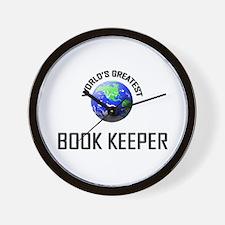 World's Greatest BOOK KEEPER Wall Clock