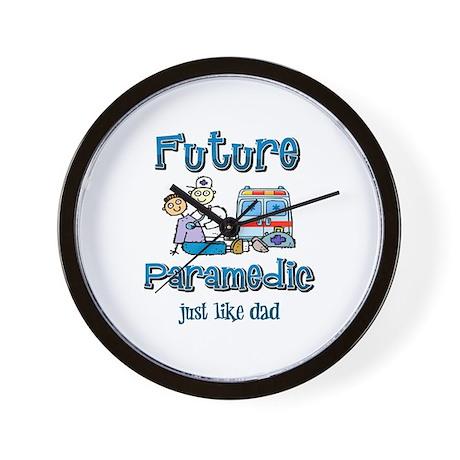 Future Paramedic just like Dad Wall Clock