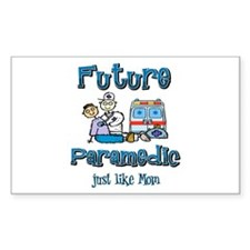 Future Paramedic just like Mom Sticker (Rectangula
