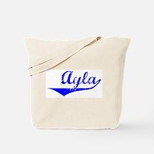 Ayla Vintage (Blue) Tote Bag