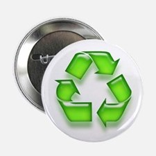 Neon Recycle Sign Button