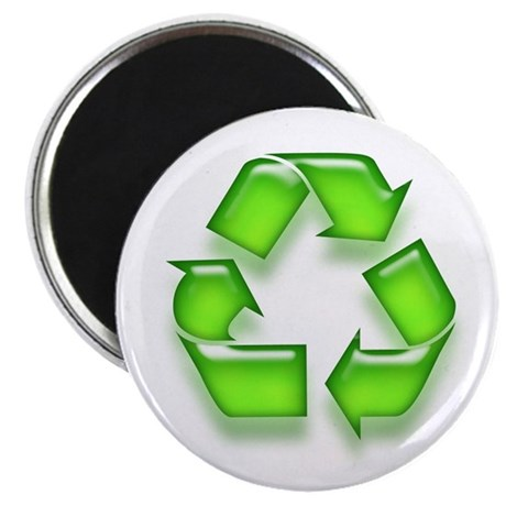 Neon Recycle Sign Magnet