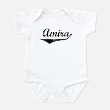 Amira Vintage (Black) Infant Bodysuit