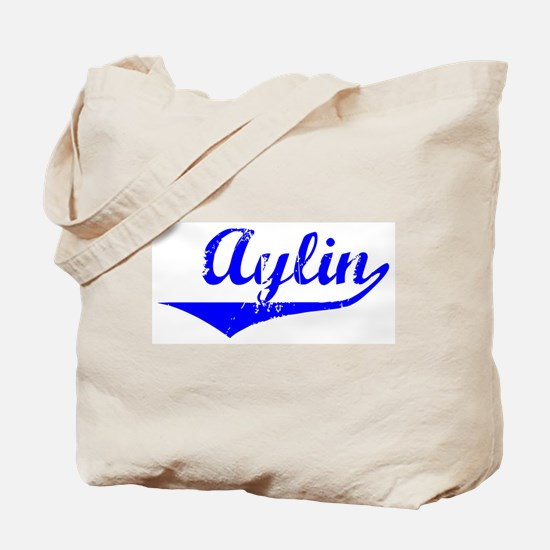 Aylin Vintage (Blue) Tote Bag