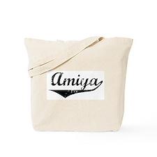 Amiya Vintage (Black) Tote Bag