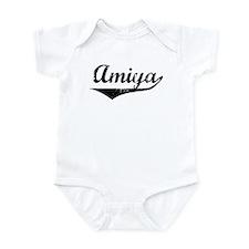 Amiya Vintage (Black) Infant Bodysuit