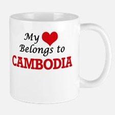 My Heart Belongs to Cambodia Mugs
