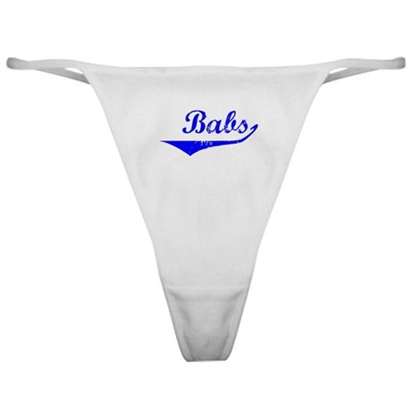 Babs Vintage (Blue) Classic Thong