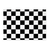 Black and white checkered 5x7 Rugs