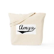 Amya Vintage (Black) Tote Bag