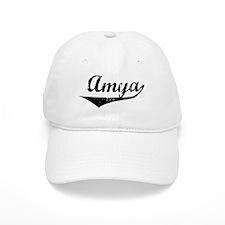 Amya Vintage (Black) Baseball Cap