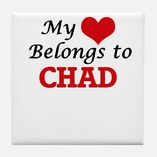 My Heart Belongs to Chad Tile Coaster