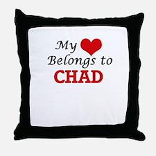 My Heart Belongs to Chad Throw Pillow