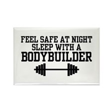 Feel Safe with a Bodybuilder Rectangle Magnet