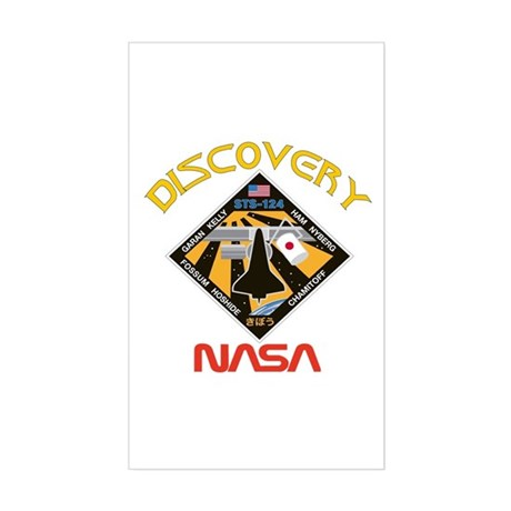 Discovery STS 124 Rectangle Sticker
