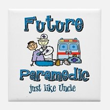 Future Paramedic just like my Uncle Tile Coaster