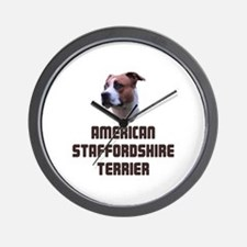 American Staffordshire Terrie Wall Clock