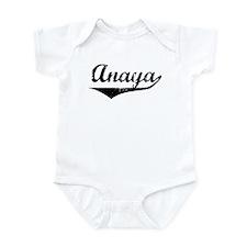 Anaya Vintage (Black) Infant Bodysuit