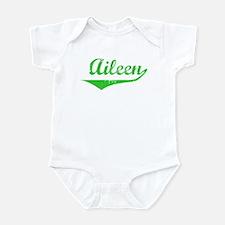 Aileen Vintage (Green) Infant Bodysuit