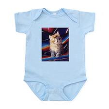 Fuzzy Grey Tabby Kitten Infant Creeper