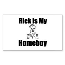 Rick is my Homeboy Rectangle Stickers
