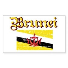 Flag of Brunei Rectangle Decal