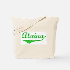 Alaina Vintage (Green) Tote Bag