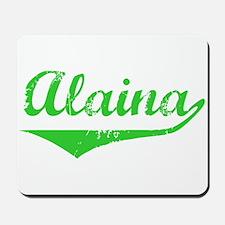 Alaina Vintage (Green) Mousepad