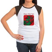 happy holly days Women's Cap Sleeve T-Shirt