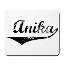 Anika Vintage (Black) Mousepad