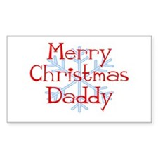 Merry Christmas Daddy with Sn Sticker (Rectangular