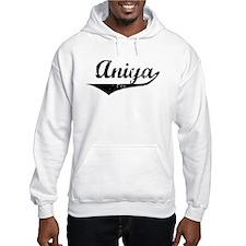 Aniya Vintage (Black) Hoodie Sweatshirt